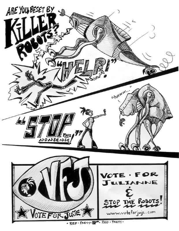 Killer Robots Drawing Beware of The Killer Robots
